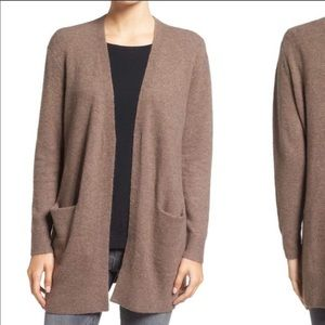 Madewell Ryder Open Brown Cardigan Pockets XS